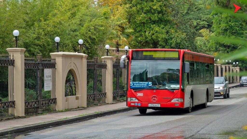Общественный транспорт в Гагре