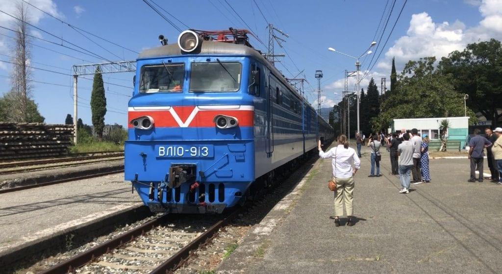 Ретро поезд Туапсе Гагра