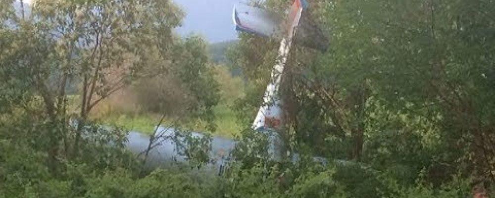 6 июля в Пицунде упал прогулочный самолет А-33