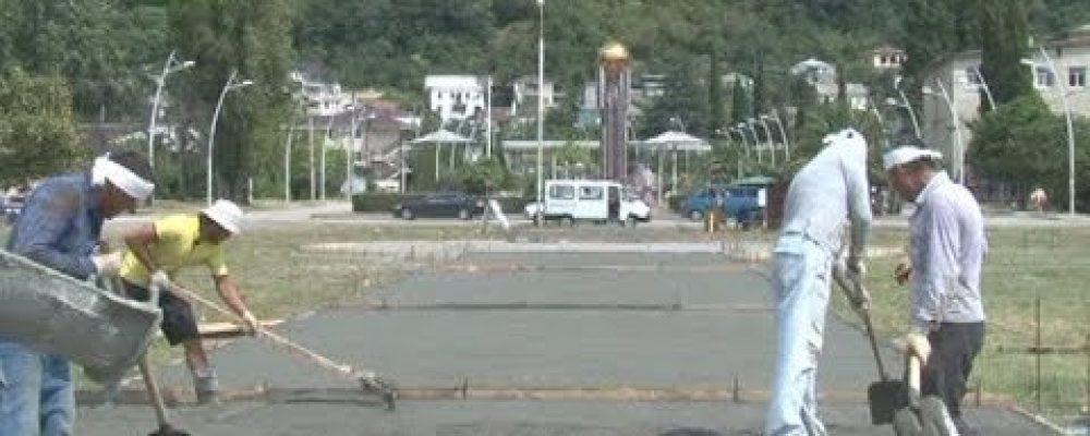 В Гагре начались работы по благоустройству третьей части парка Славы