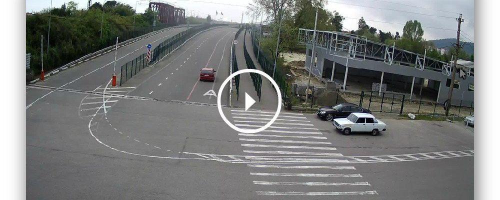 Веб-камера на Российско-Абхазской границе