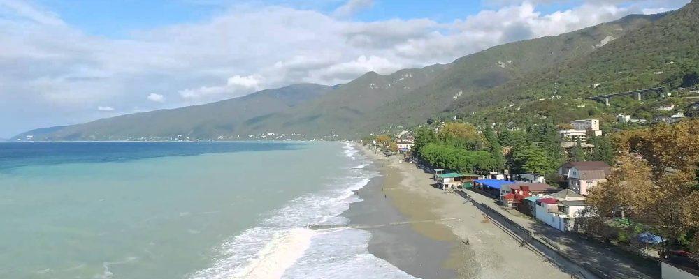 Море в Гагре. Видео