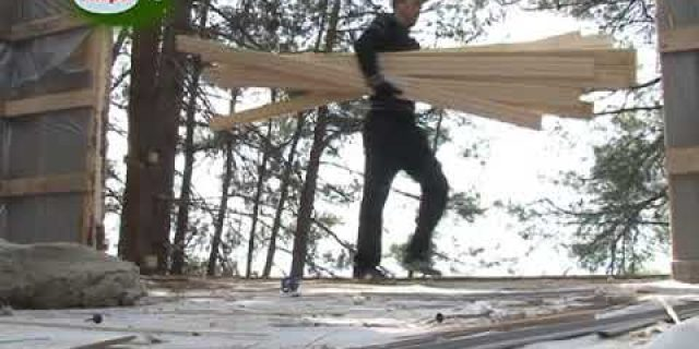 На территории Пицундо Мюссерского заповедника ведется демонтаж незаконной частной гостиницы