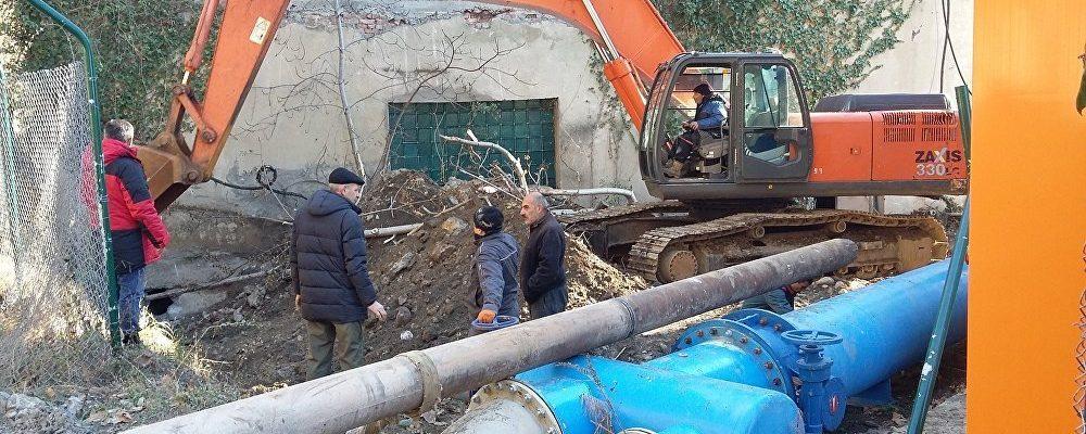 Штормом 3 декабря нанесен ущерб водозаборной станции города Гагра