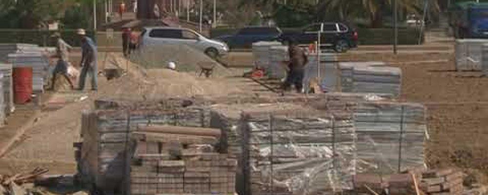 В Гагре продолжается строительство третьей части Парка Славы
