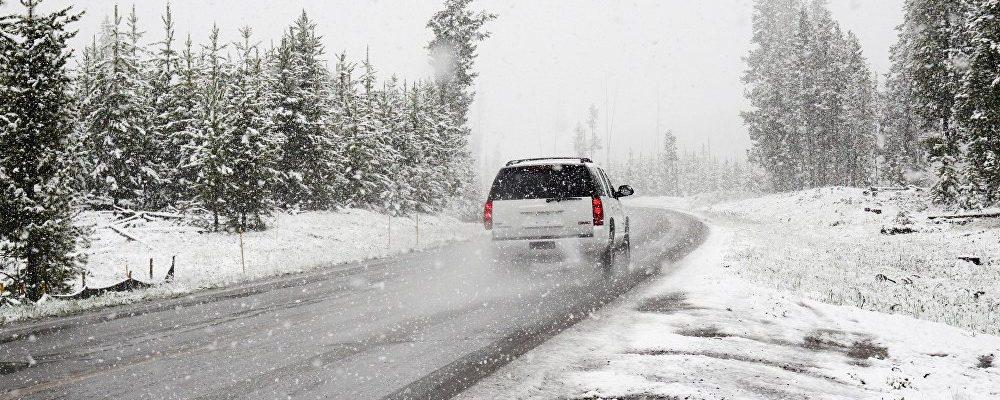 Объездная дорога в Гагре перекрыта из-за снегопада