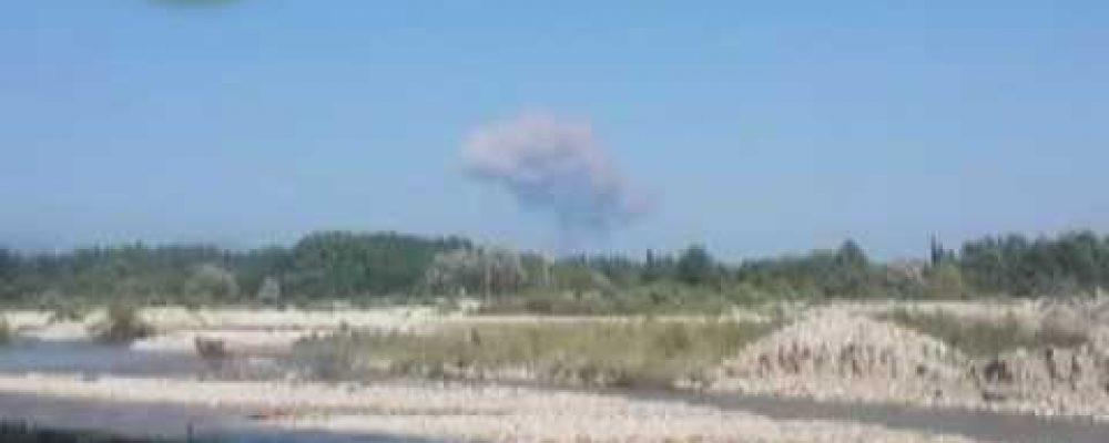 2 августа в с  Приморское Гудаутского района произошел взрыв на складе боеприпасов