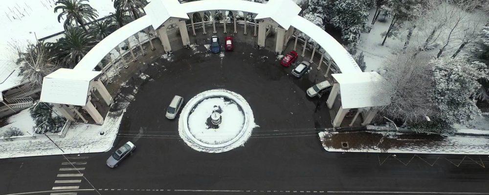 Снег в Гагре. Видео